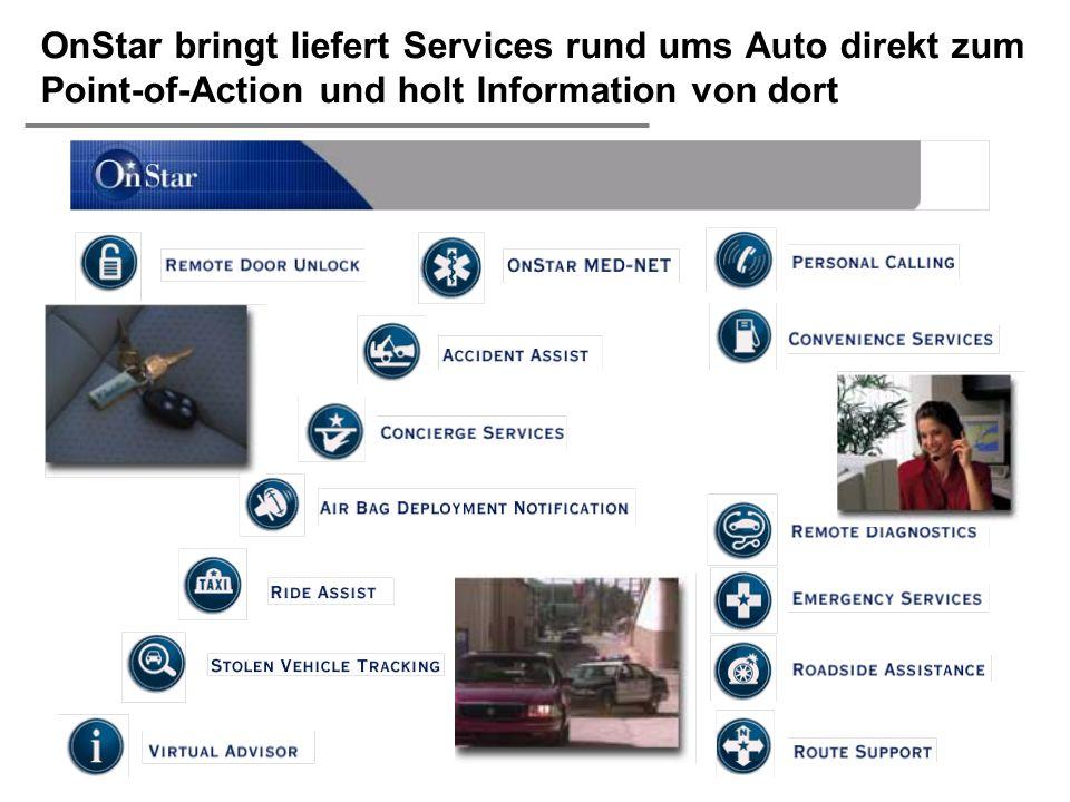 OnStar bringt liefert Services rund ums Auto direkt zum Point-of-Action und holt Information von dort