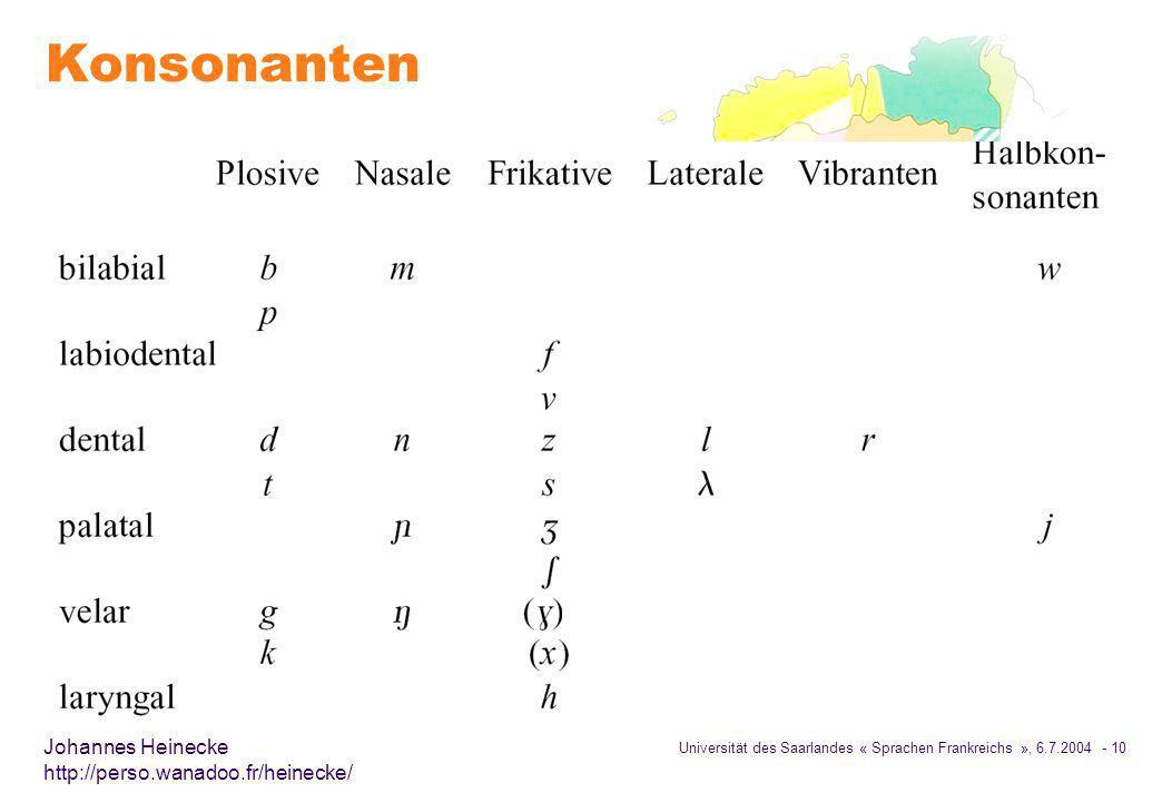 Konsonanten
