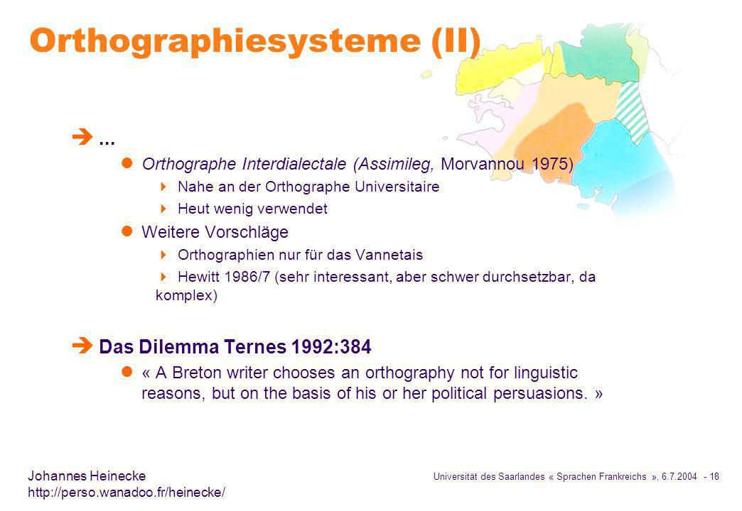 Orthographiesysteme (II)