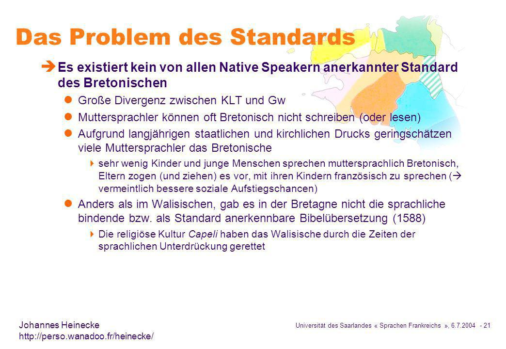 Das Problem des Standards