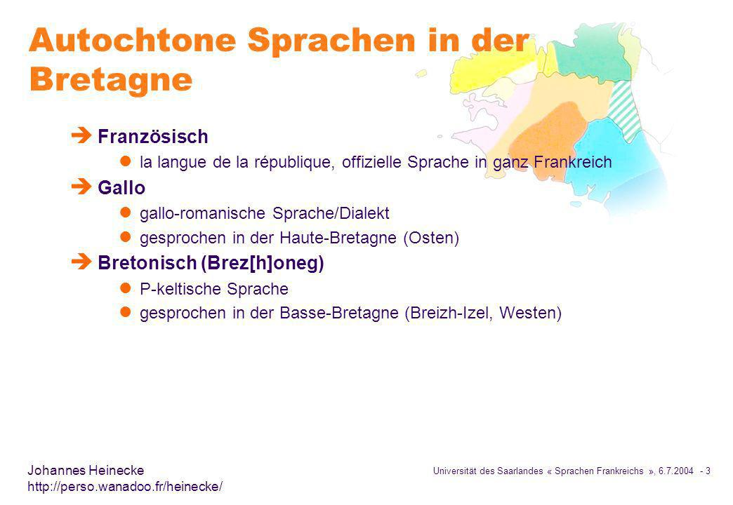 Autochtone Sprachen in der Bretagne