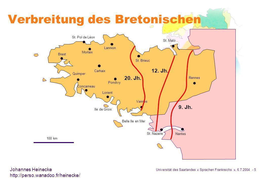 Verbreitung des Bretonischen