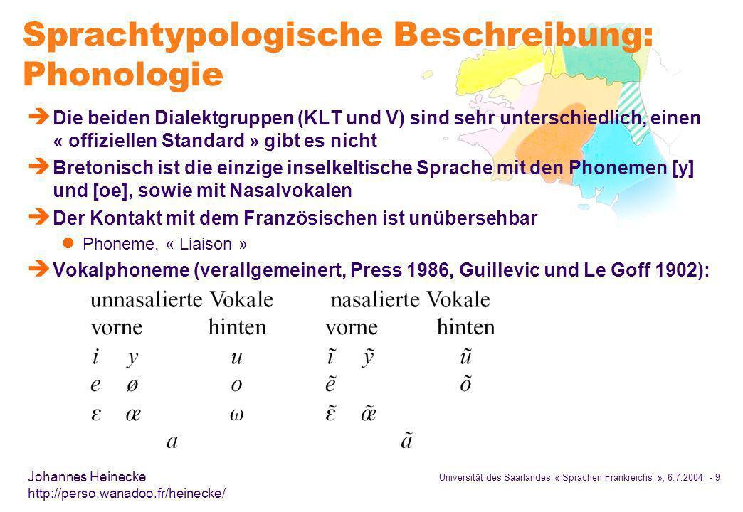 Sprachtypologische Beschreibung: Phonologie