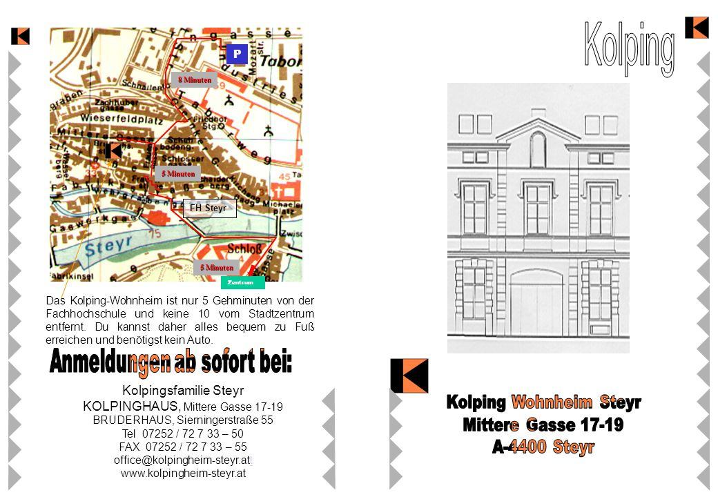 Kolping Kolping Wohnheim Steyr Mittere Gasse 17-19 A-4400 Steyr