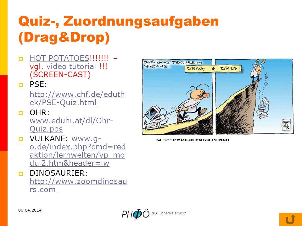Quiz-, Zuordnungsaufgaben (Drag&Drop)