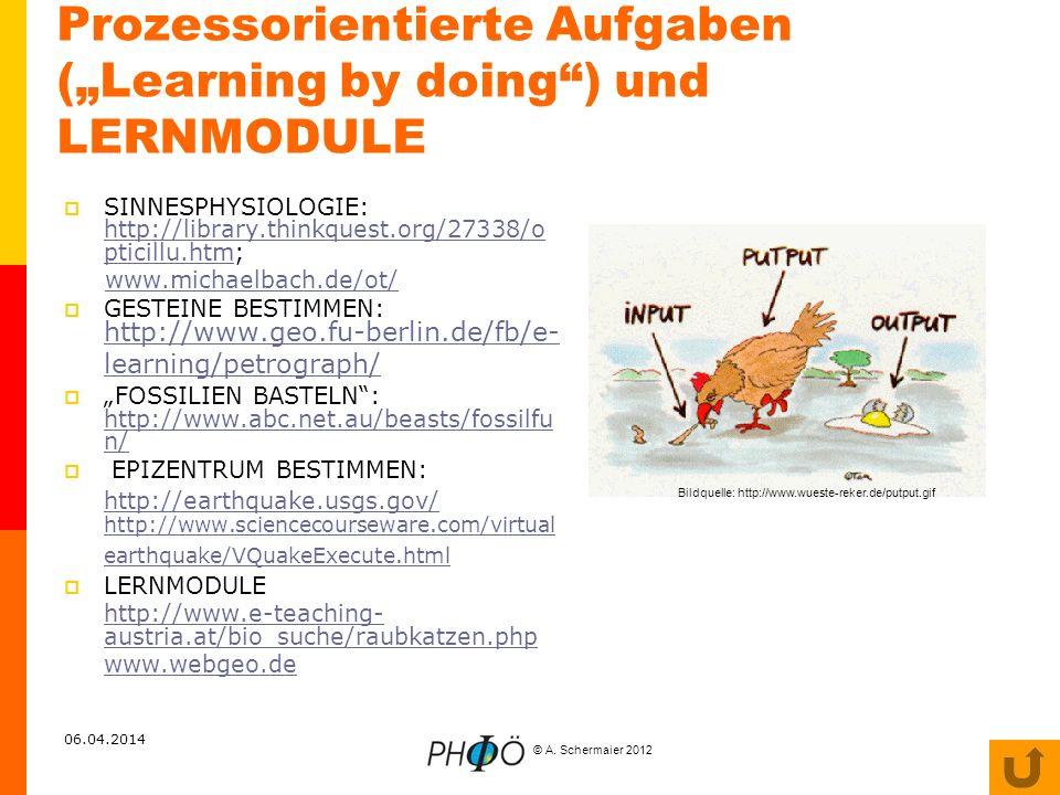 """Prozessorientierte Aufgaben (""""Learning by doing ) und LERNMODULE"""
