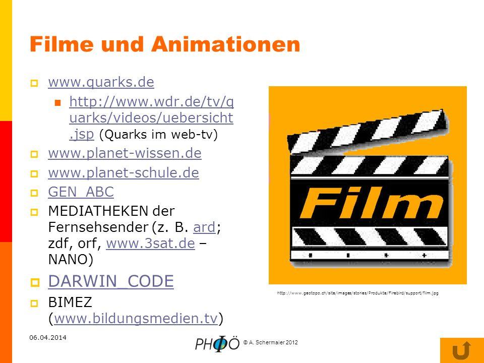 Filme und Animationen DARWIN_CODE www.quarks.de