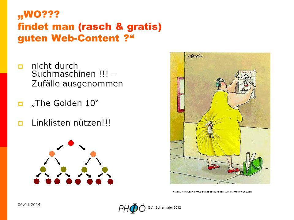 """""""WO findet man (rasch & gratis) guten Web-Content"""
