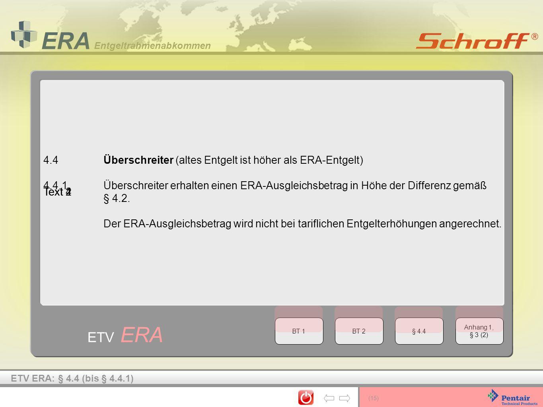 ETV ERA 4.4 Überschreiter (altes Entgelt ist höher als ERA-Entgelt)