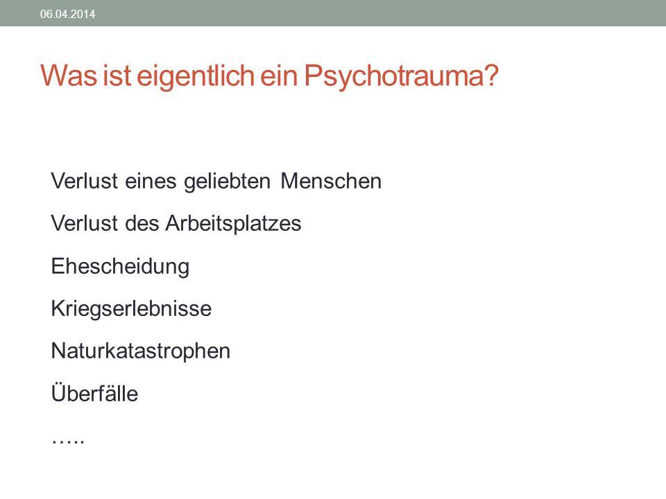 Was ist eigentlich ein Psychotrauma