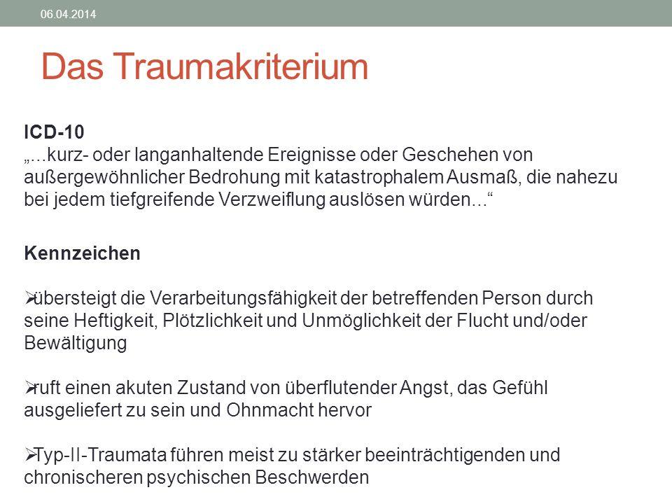 Das Traumakriterium ICD-10