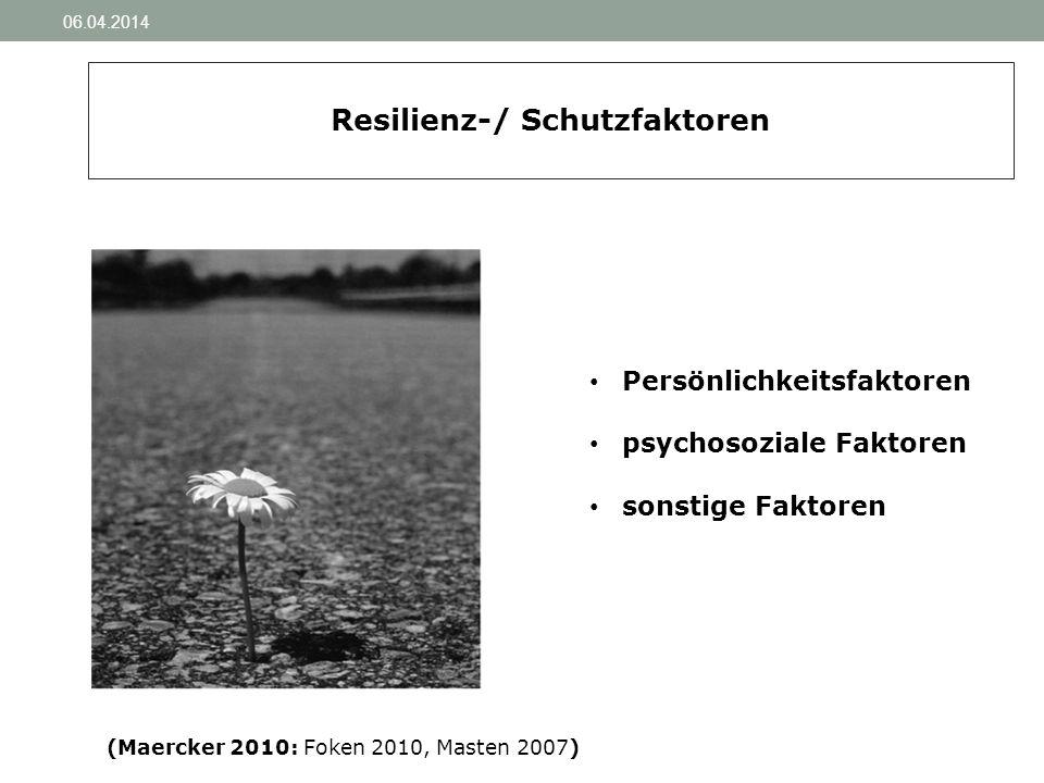 Resilienz-/ Schutzfaktoren