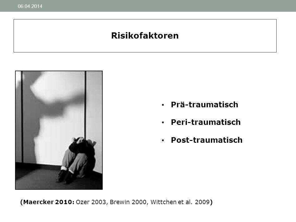 (Maercker 2010: Ozer 2003, Brewin 2000, Wittchen et al. 2009)