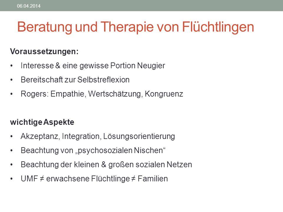 Beratung und Therapie von Flüchtlingen