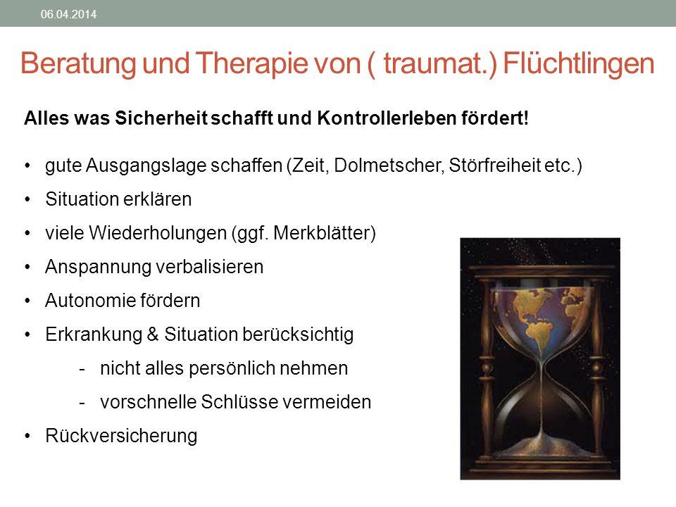 Beratung und Therapie von ( traumat.) Flüchtlingen