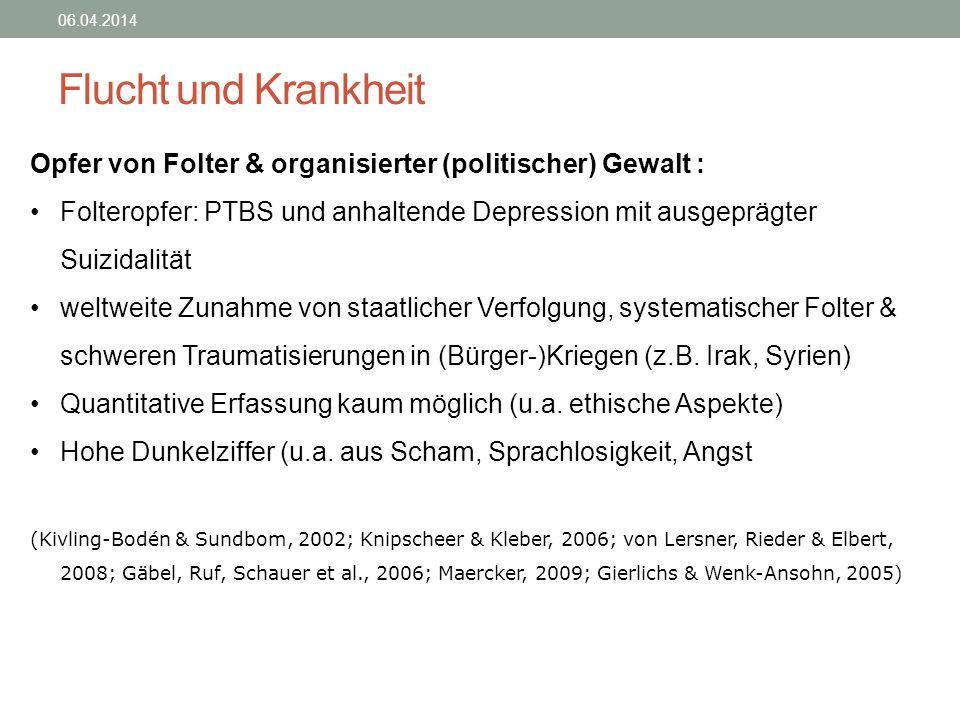 28.03.2017 Flucht und Krankheit. Opfer von Folter & organisierter (politischer) Gewalt :