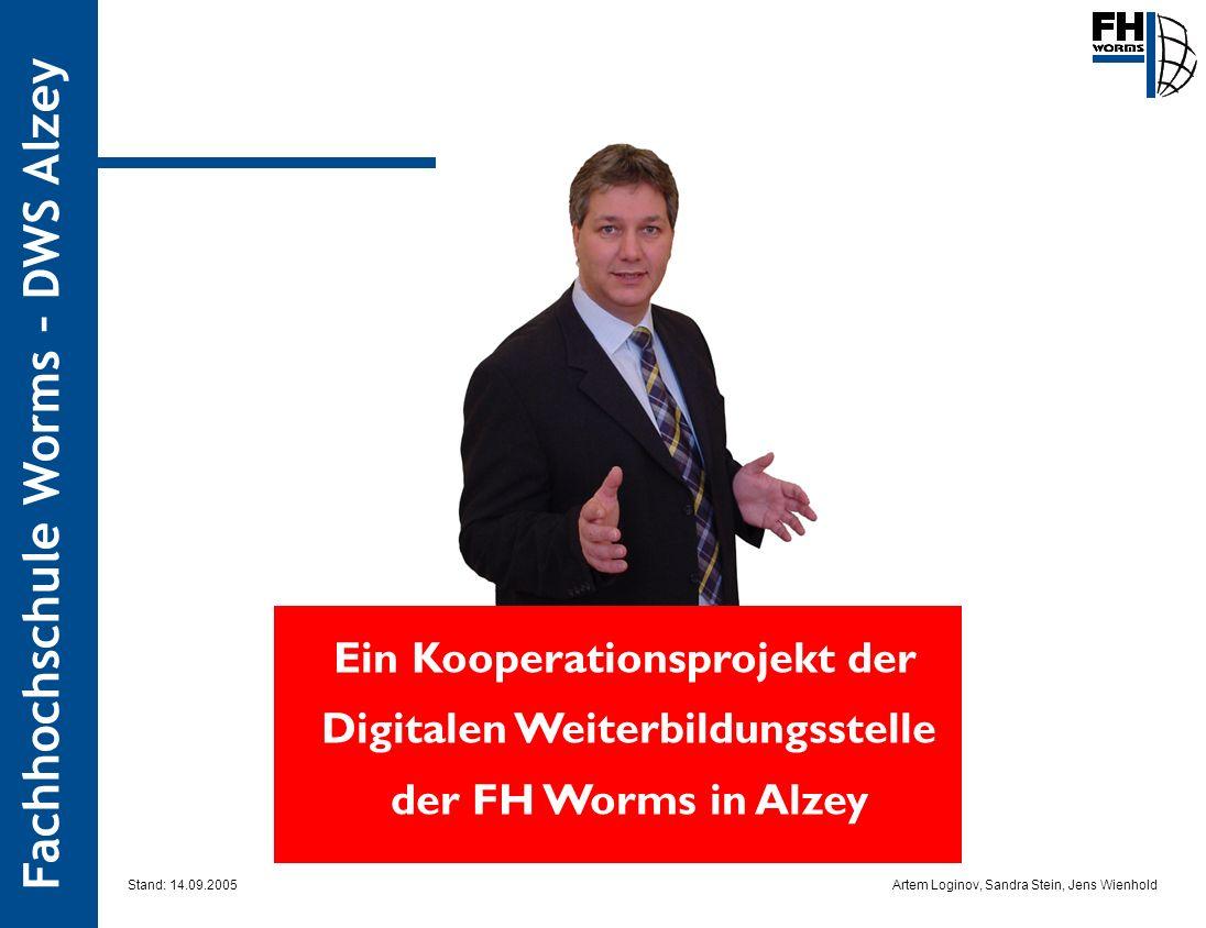 Ein Kooperationsprojekt der Digitalen Weiterbildungsstelle der FH Worms in Alzey