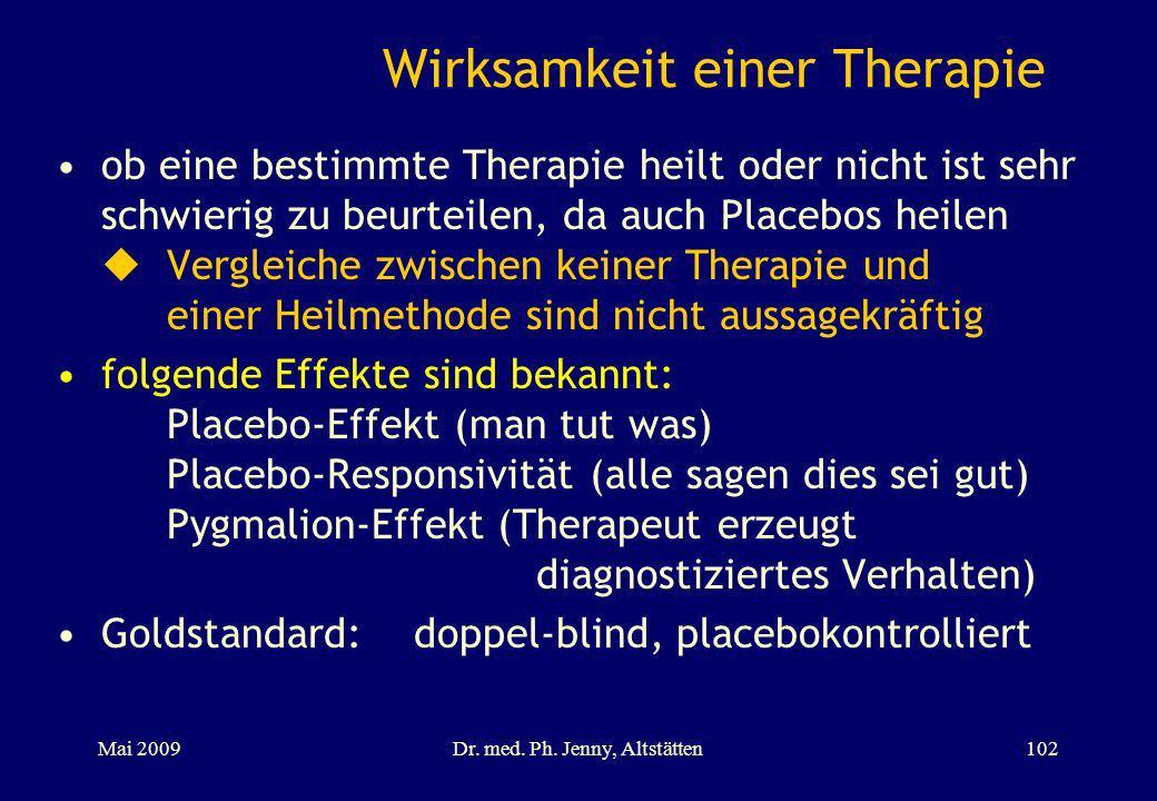 Wirksamkeit einer Therapie