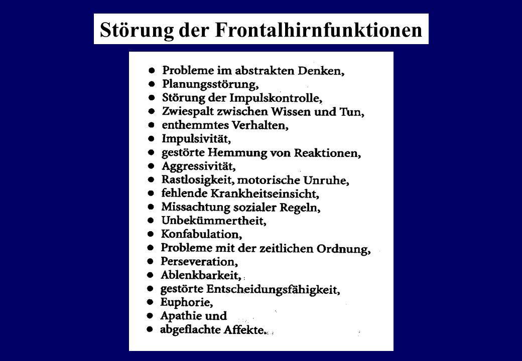 Störung der Frontalhirnfunktionen