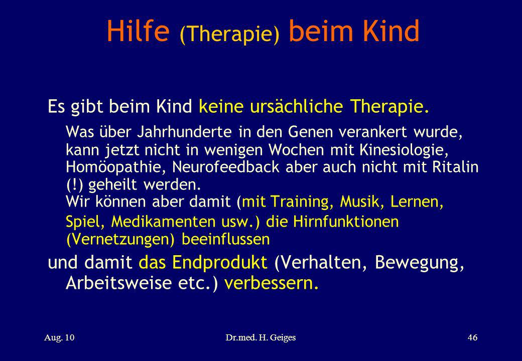 Hilfe (Therapie) beim Kind