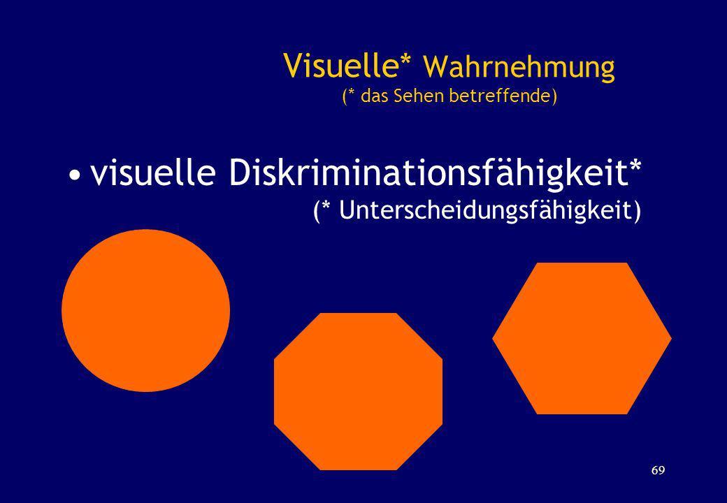Visuelle* Wahrnehmung (* das Sehen betreffende)