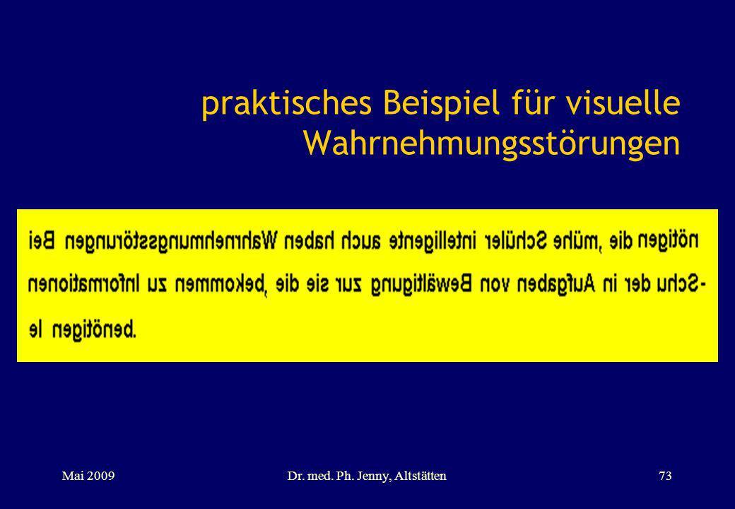 praktisches Beispiel für visuelle Wahrnehmungsstörungen