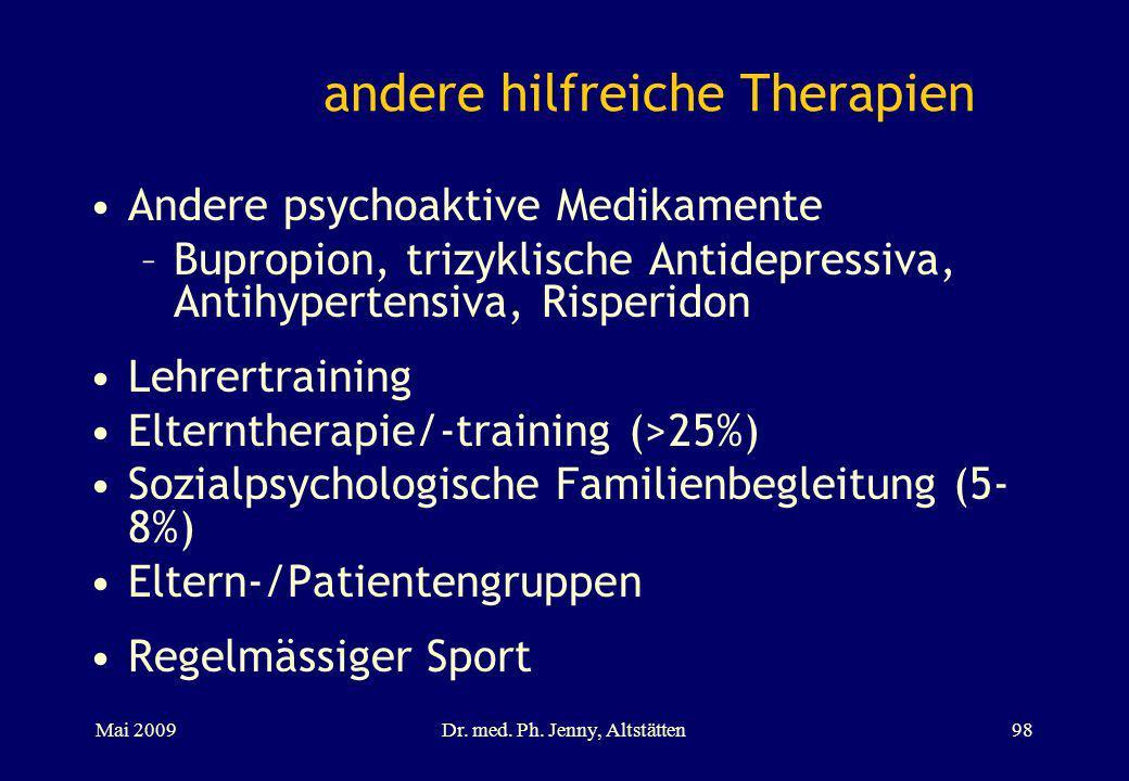 andere hilfreiche Therapien