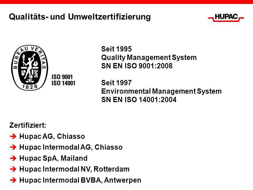 Qualitäts- und Umweltzertifizierung