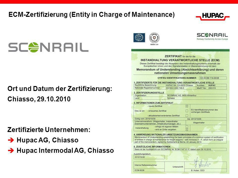 ECM-Zertifizierung (Entity in Charge of Maintenance)