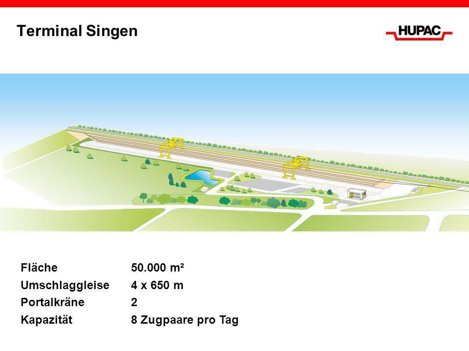 Terminal Singen Fläche 50.000 m² Umschlaggleise 4 x 650 m