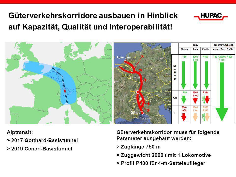 Güterverkehrskorridore ausbauen in Hinblick auf Kapazität, Qualität und Interoperabilität!