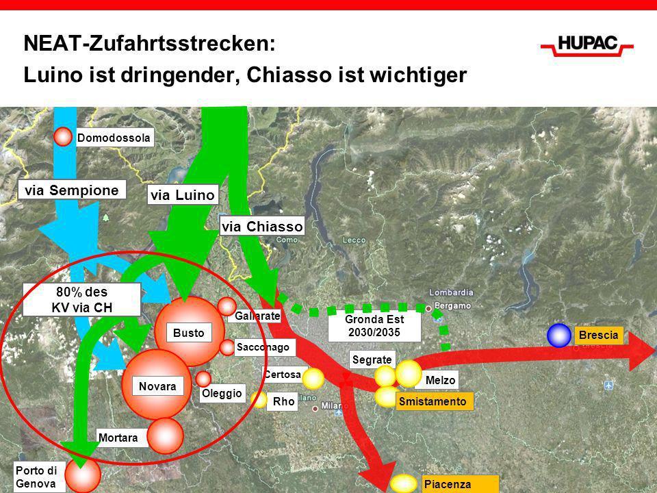 NEAT-Zufahrtsstrecken: Luino ist dringender, Chiasso ist wichtiger