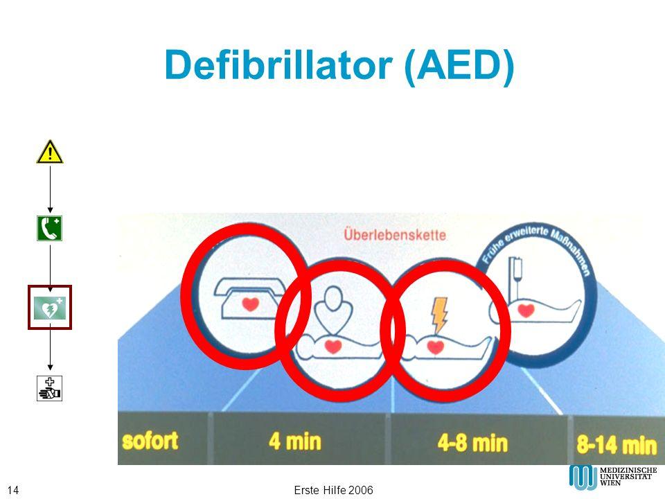 Defibrillator (AED) Erste Hilfe 2006