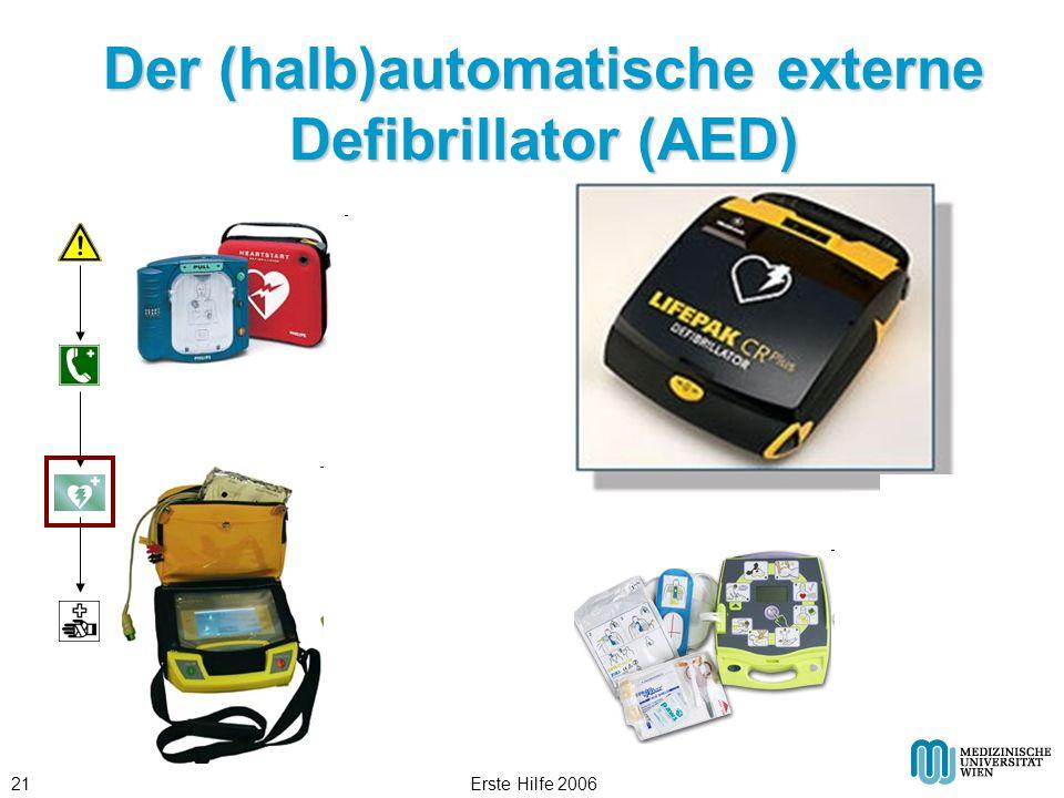 Der (halb)automatische externe Defibrillator (AED)