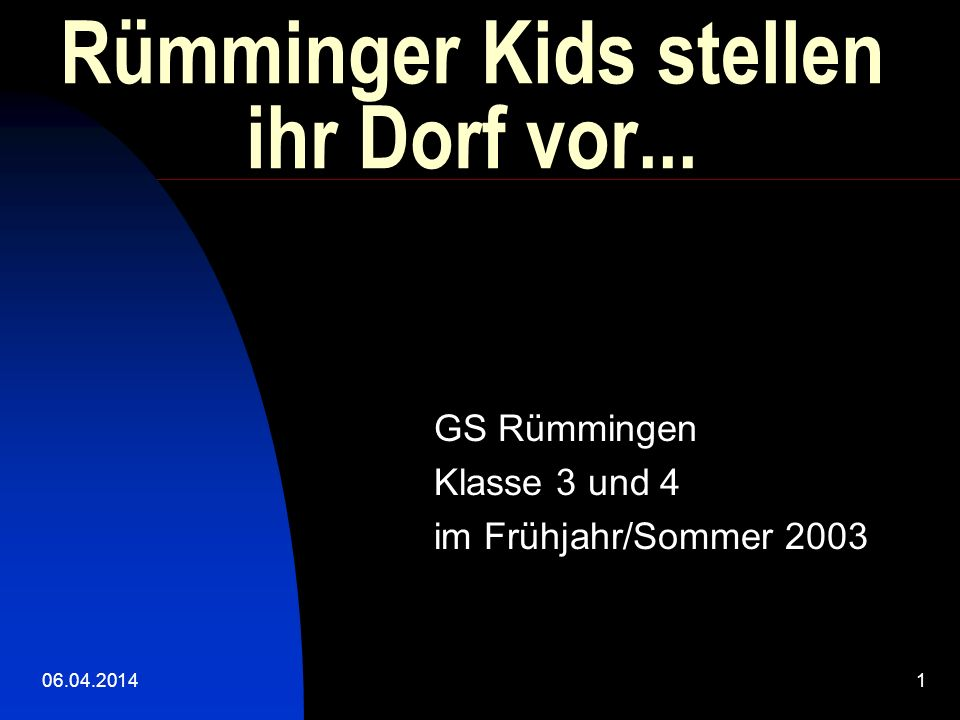 Rümminger Kids stellen ihr Dorf vor...