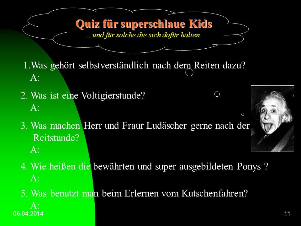 Quiz für superschlaue Kids