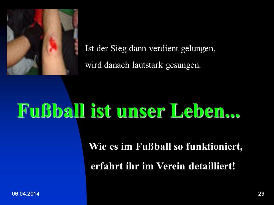 Fußball ist unser Leben...