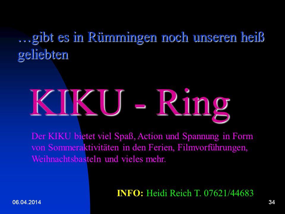 KIKU - Ring …gibt es in Rümmingen noch unseren heiß geliebten