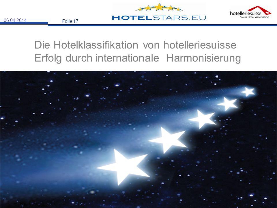 28.03.2017 Die Hotelklassifikation von hotelleriesuisse Erfolg durch internationale Harmonisierung