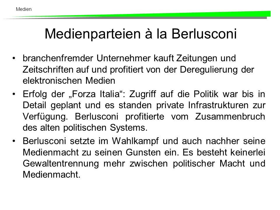 Medienparteien à la Berlusconi