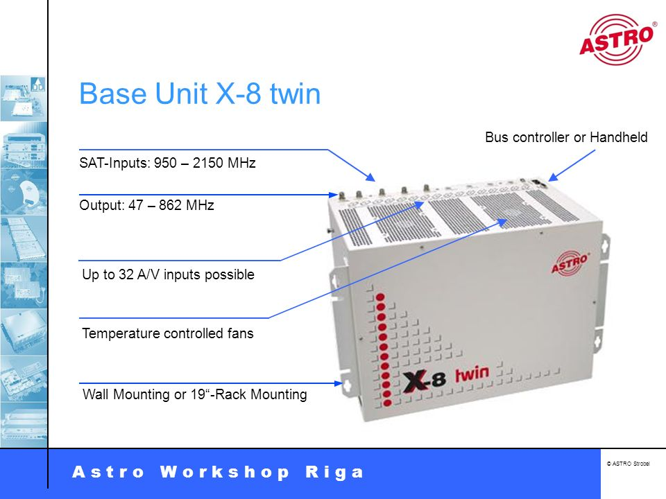 Base Unit X-8 twin Bus controller or Handheld