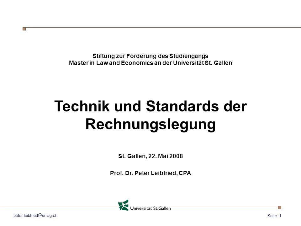 Technik und Standards der Rechnungslegung