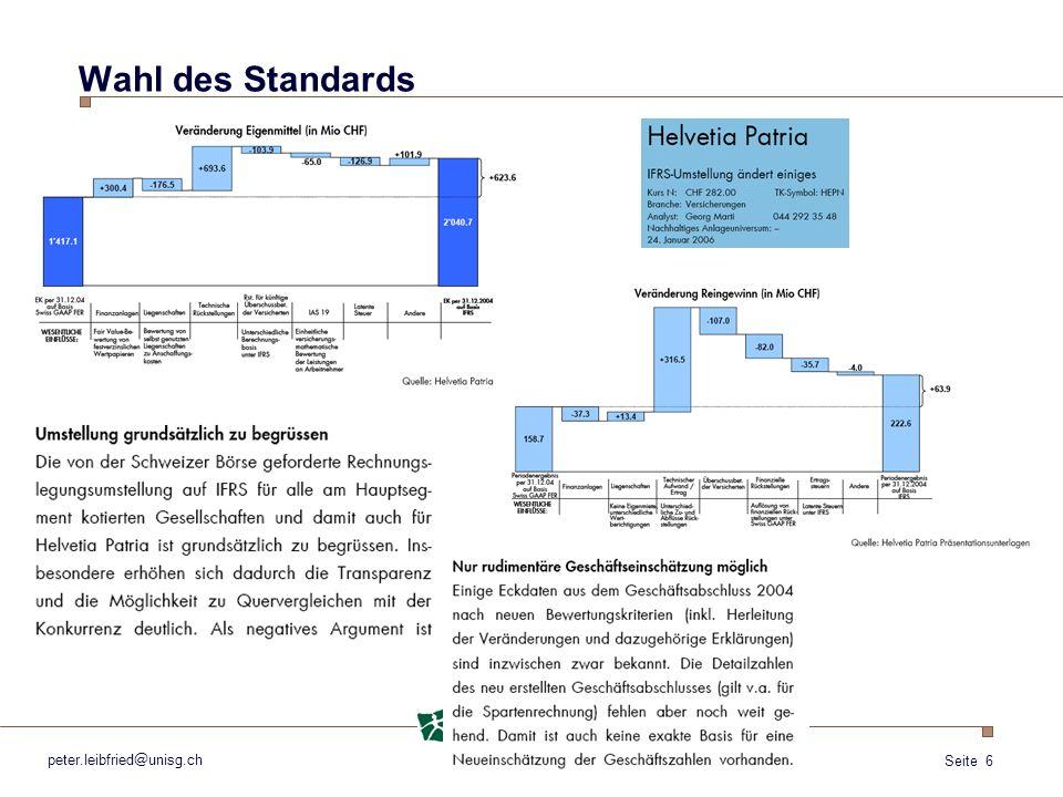 Wahl des Standards peter.leibfried@unisg.ch