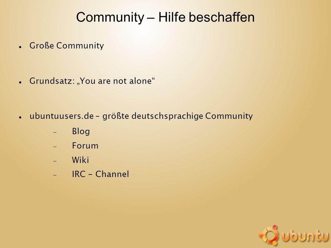 Community – Hilfe beschaffen