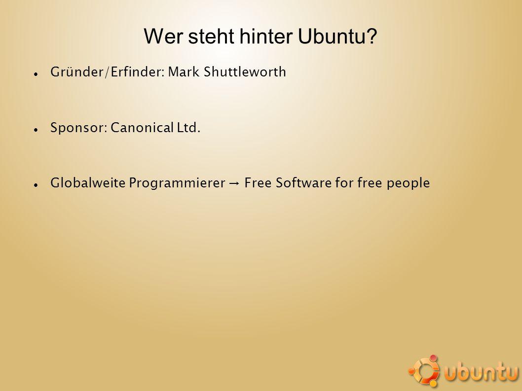 Wer steht hinter Ubuntu