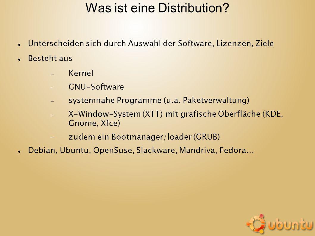 Was ist eine Distribution