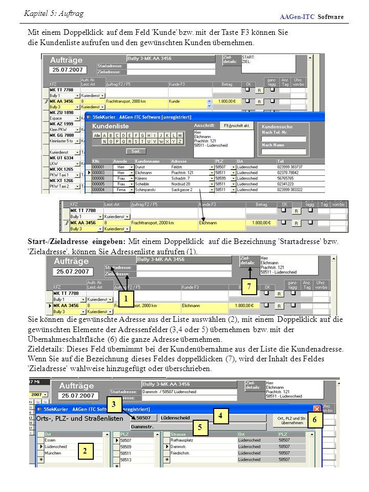 Kapitel 5: AuftragAAGen-ITC Software.