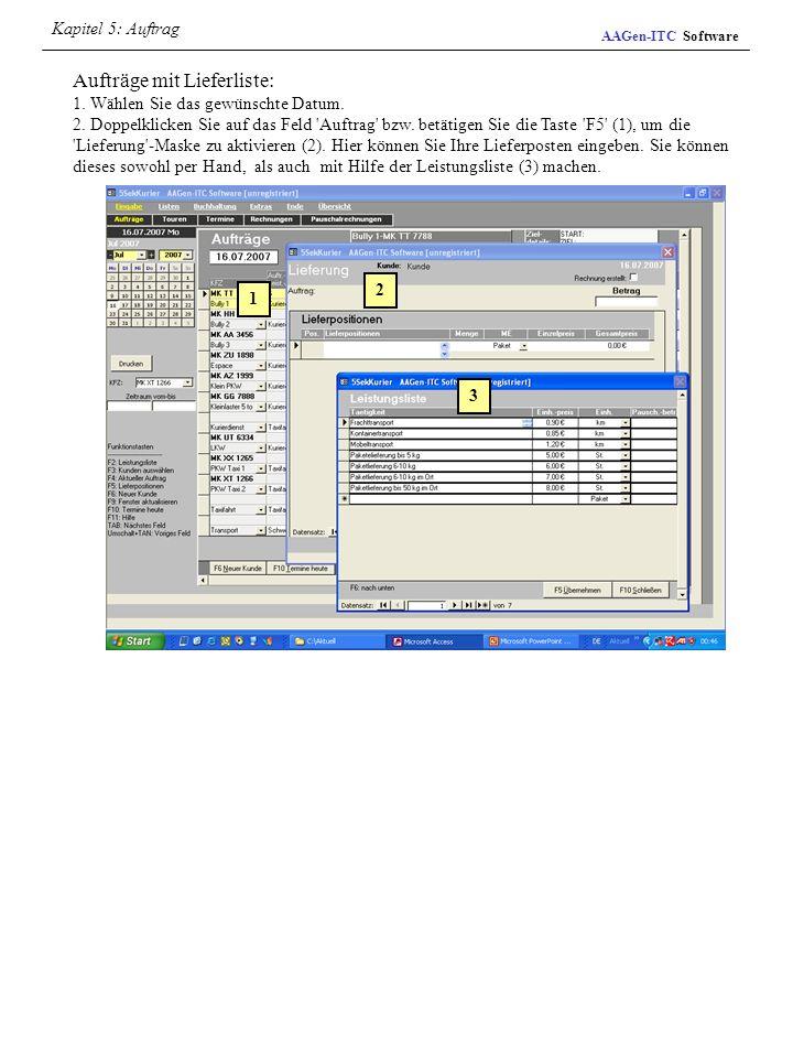 Kapitel 5: Auftrag AAGen-ITC Software.