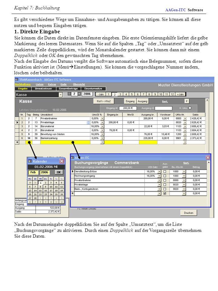 Kapitel 7: Buchhaltung AAGen-ITC Software.