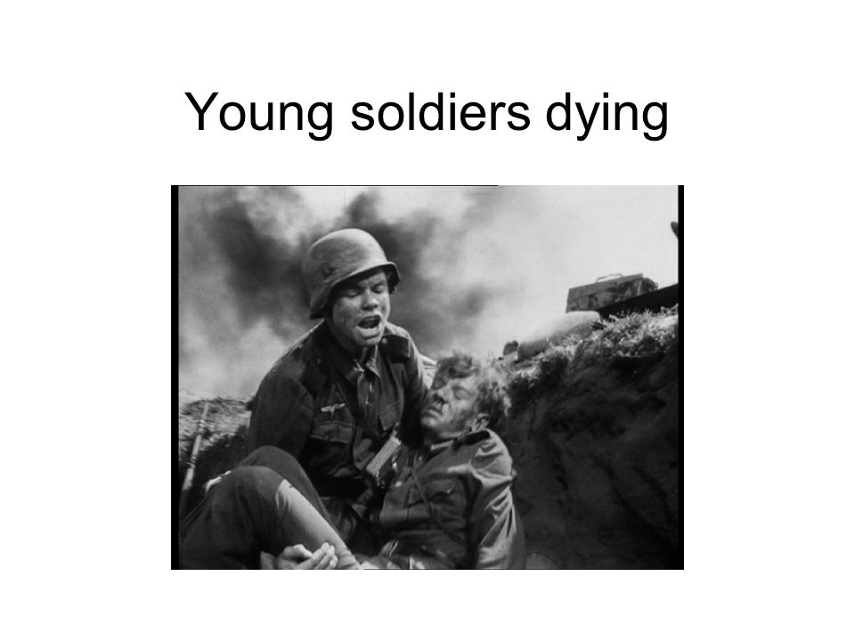 Young soldiers dying